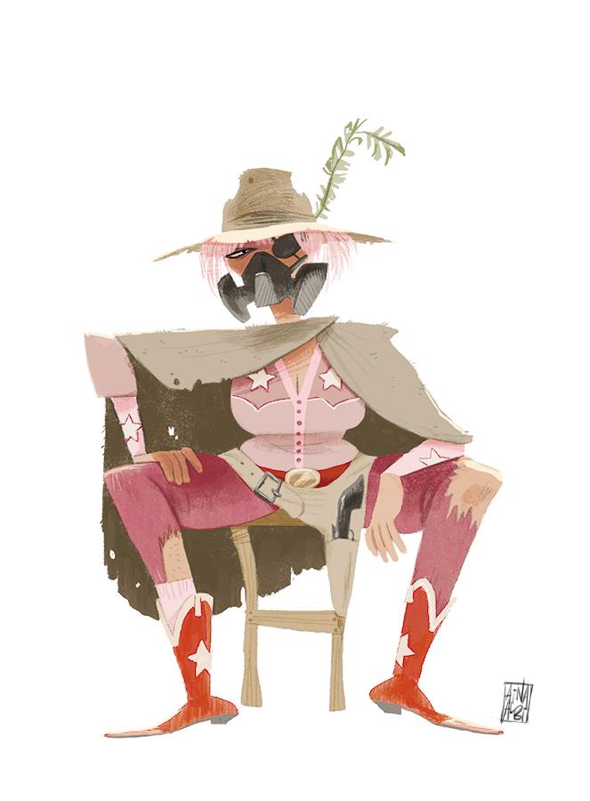 Postapocaliptic Cowgirl